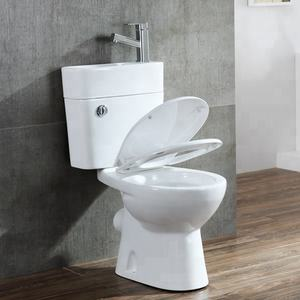 Amazon Recommended Water Saving Washdown Two Piece Bathroom Wc Toilet with Cistern Sink Basin   Tap