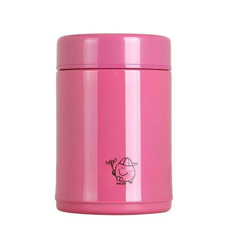 New design china supplier Pink Vacuum Insulated Food Jar 21oz Stainless Steel Thermos Flask