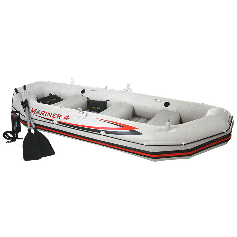 Intex 68376 Professional Series Mariner 4 Set Inflatable Raft PVC Fishing Boat