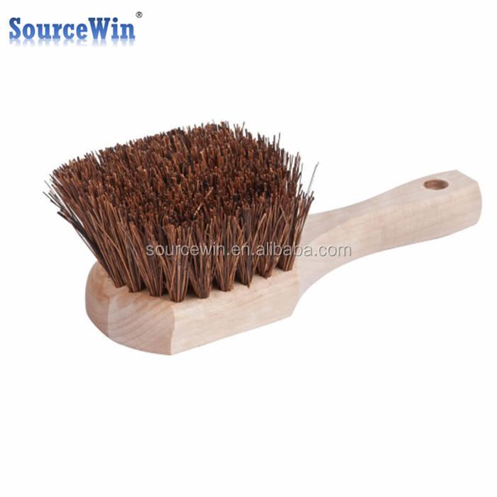 Wood Natural Palmyra Wok Brush 8 New Free Shipping Cleaning Warewashing Commercial Kitchen Equipment