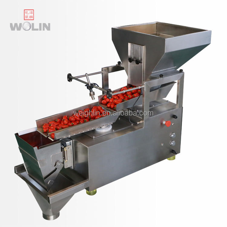 duplex version single head weight filler packing machine for dry fruits apple potato banana chips cherry tomato