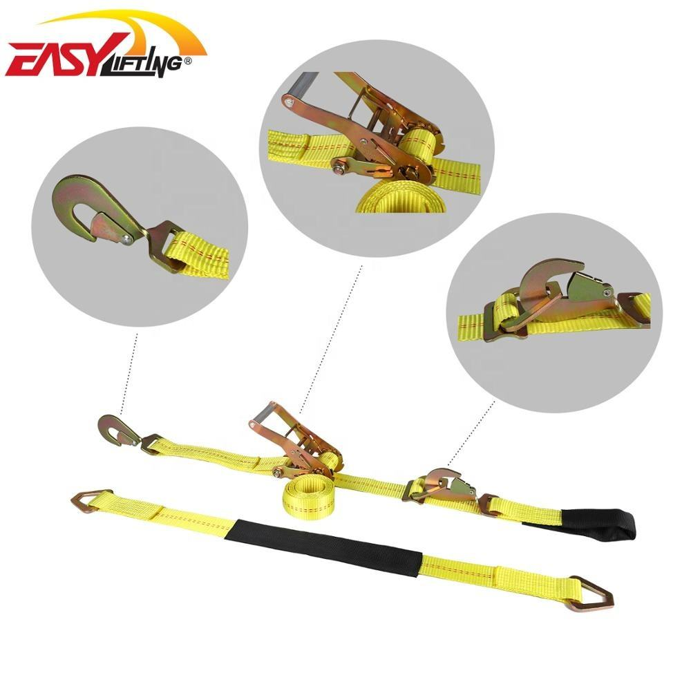 PE / PP [ Straps ] Tie Down Strap 4 Pack 36'' Axle Straps Tie Downs With Adjustable Tire Wheel Tie Down