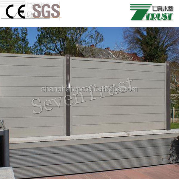 WPC outdoor fence slats on sale in Germany, strong exterior composite garden fence