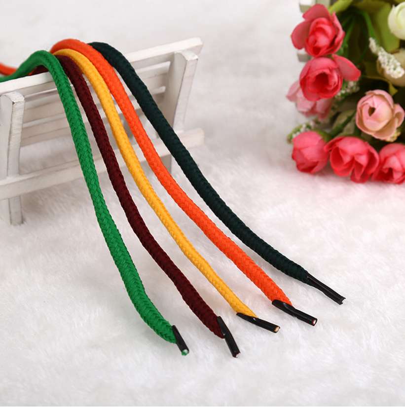 Knit Cotton Rope Shoe Ties Customized Elastic Handle Bag Twisted String Rope Strap Garment Accessories