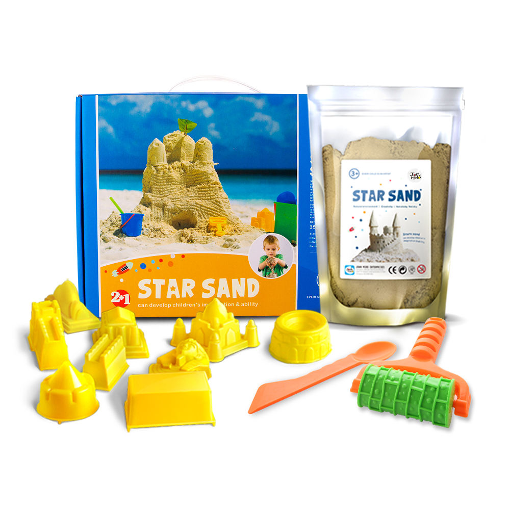 Custom children kid art modeling playsand play sand beach toy kit set for play