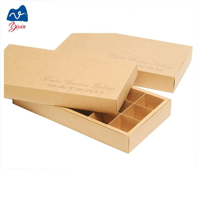 Sweet paper sliding box chocolate box with paper divider