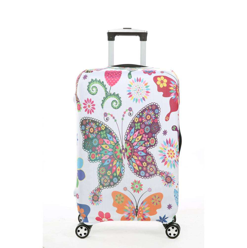 Christmas Blue Decor Travel Luggage Protector Case Suitcase Protector For Man/&Woman Fits 18-32 Inch Luggage