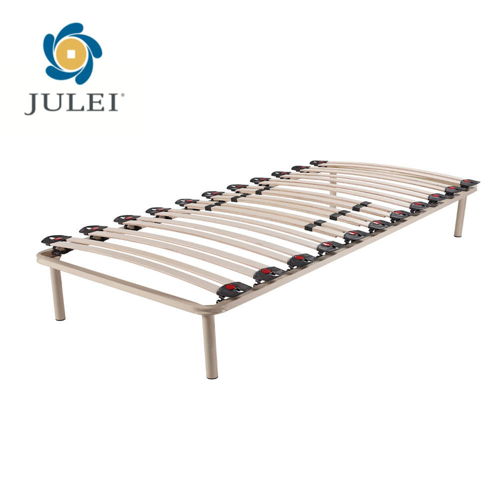 European Single Hotel Bed Frame Parts With Strength Slats