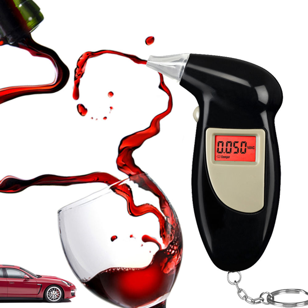 Digital LCD Display Drive Safety Personal Portable Alcohol Tester with Keychain breath alcohol tester68s