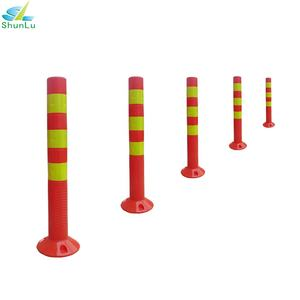 pvc delineator 700mm reflective plastic traffic road post for lane divider