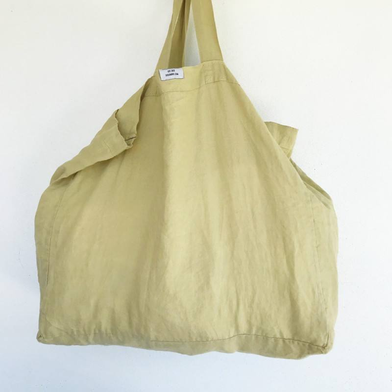Eco-friendly Raw Ginger Linen Cotton Tote Bag