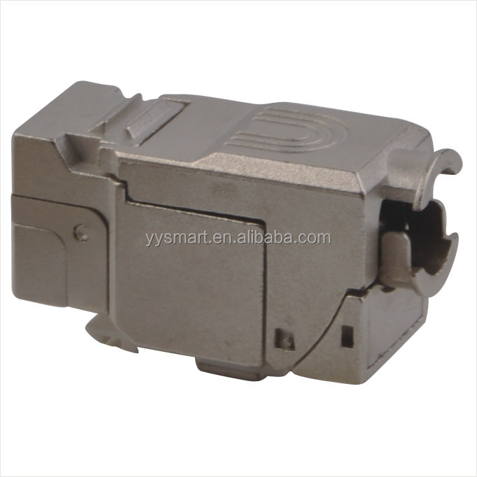 RJ 45 Keystone שקע מודולרי Cat.6a FTP 500 Mhz 10 2gbit vollgeschirmt