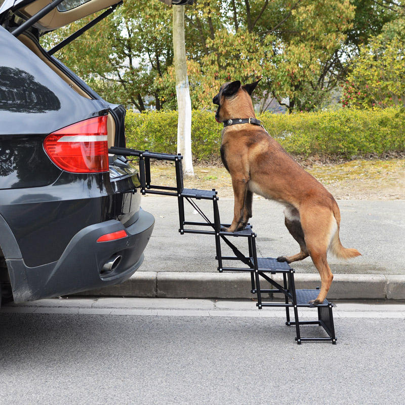 Verbesserte Pet Dog Car Step Treppen Akkordeon Metallrahmen Tragbare klappbare Pet Leiter für Hund Indoor Outdoor