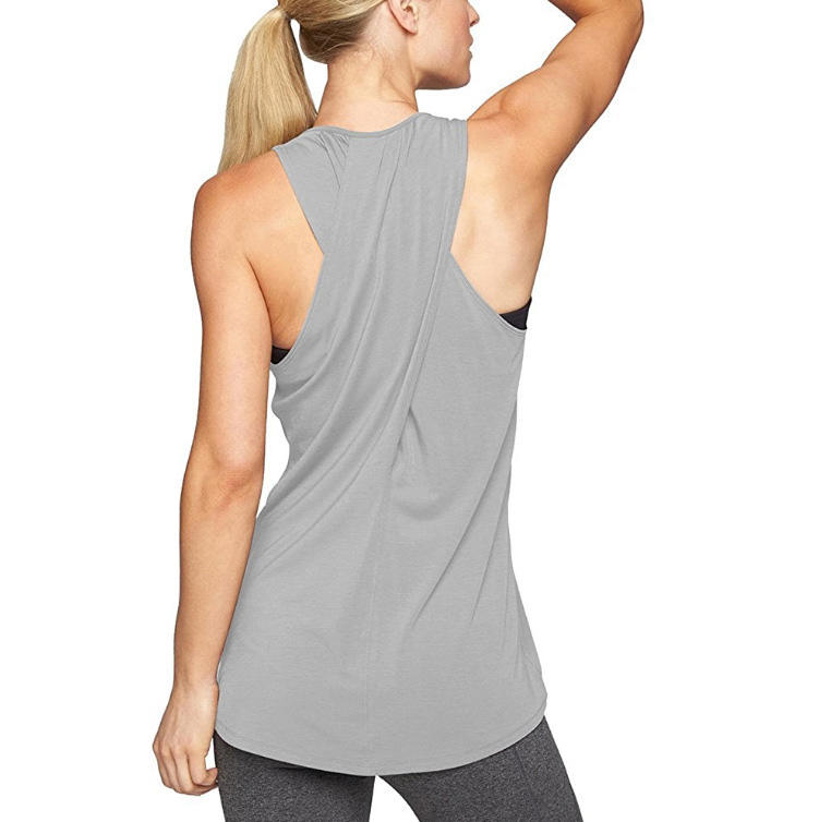 Yoga Vest Sport Tank Top Women Sleeveless Cross Gym Tops Athletic Fitness Vest Dry Fit tops Workout vest
