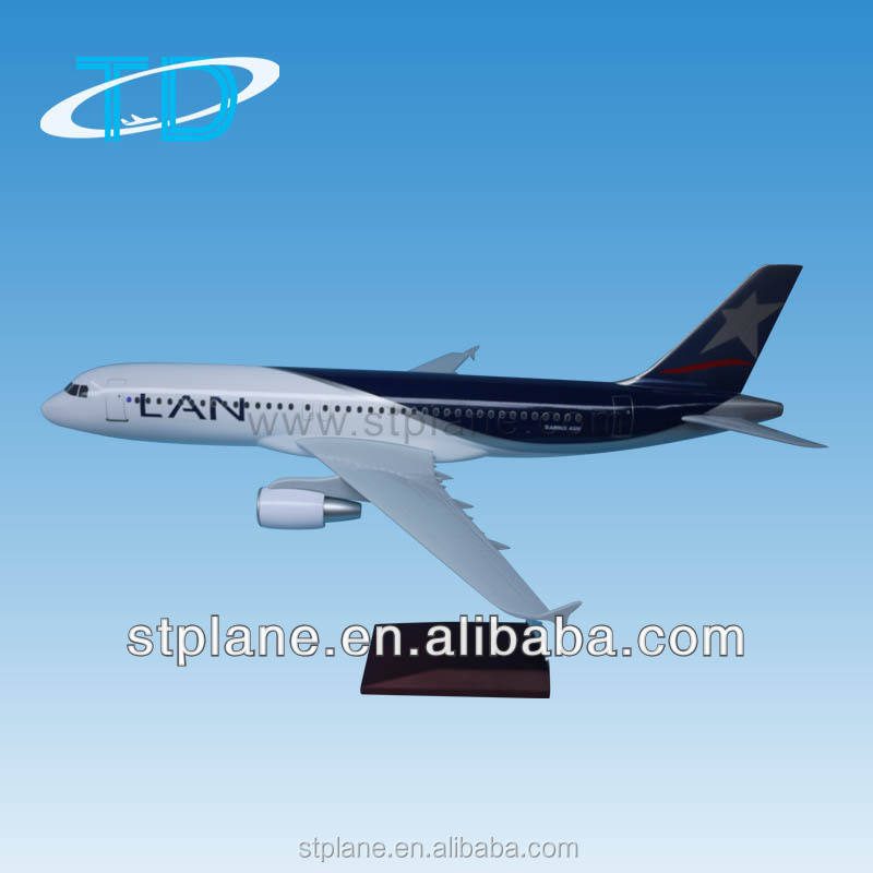 Shantou Tongde airbus A320 lan maskapai 37.6 cm Model resin kit