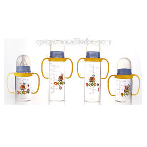 wholesale high borosilicate glass feeding bottle baby milk bottle warmer