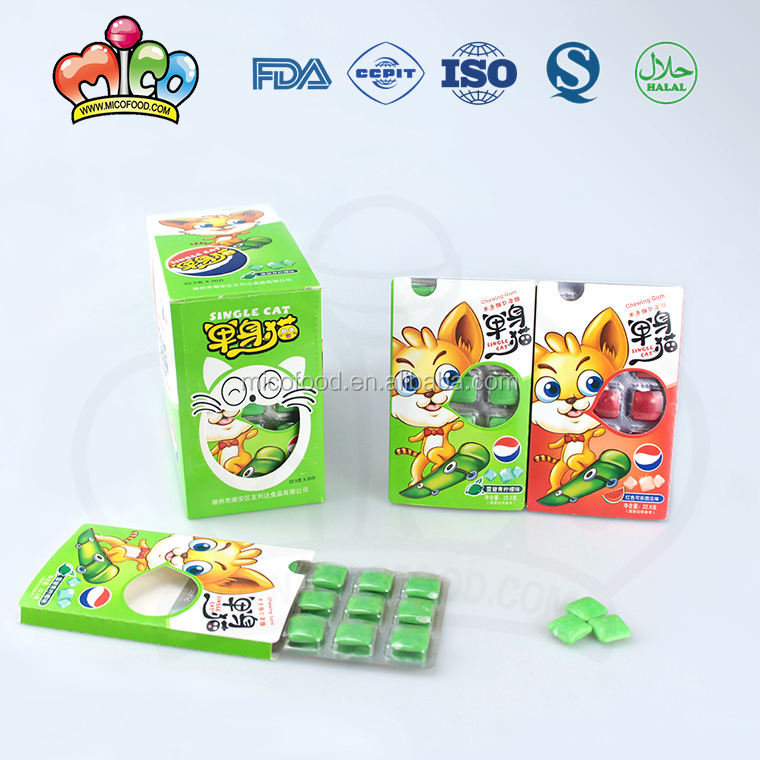 cartoon style fruit flavor chewing gum