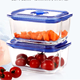 Plastic Lid Storage Glass Food Container