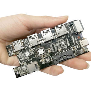 Usb Hub Chip Support OEM and ODM with HD-MI and USB 3.0 and RJ45 and PD Charging Port and SD TF Card Reader