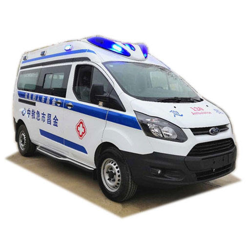 New gasoline first-aid rescue emergency ambulance vehicle