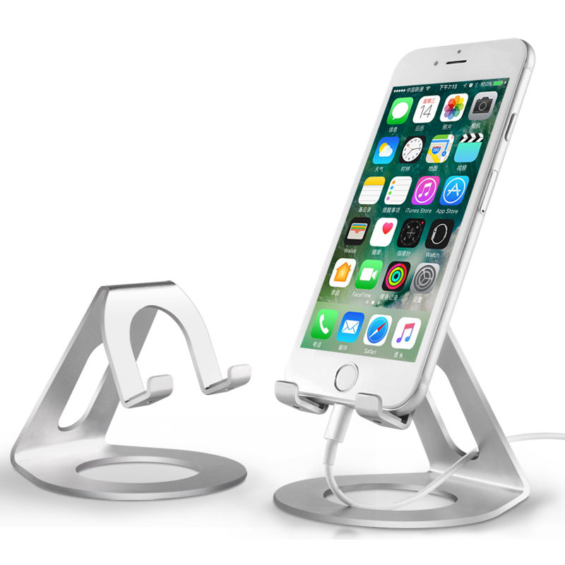 Phone holder non slip anti slip aluminium alloy material desk stand phone table top stand promotional