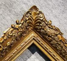 Fine Picture Frame antique Gold Ornate photo museum Oil Painting Wood