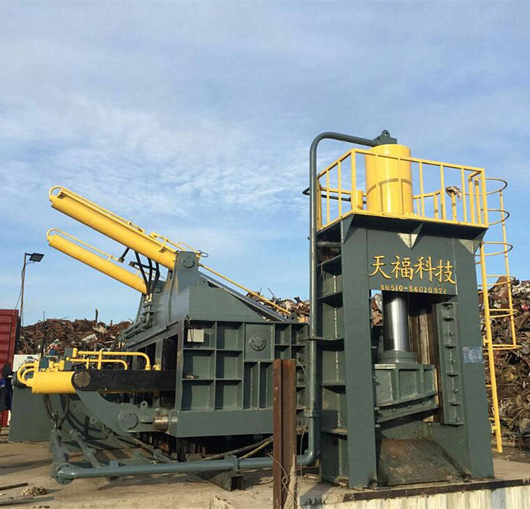 YDJ Electric motor driven heavy metal scrap baling shear for recycling