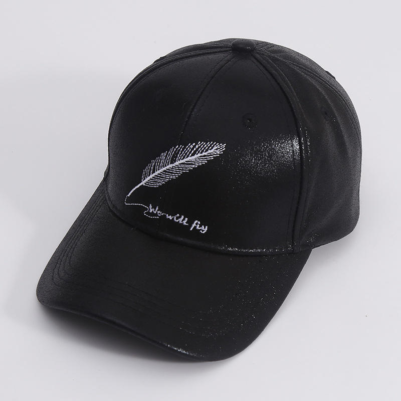 Fabulous Design Peacock Feather Lightweight Unisex Baseball Caps Adjustable Breathable Sun Hat for Sport Outdoor White