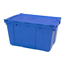 High quality plastic moving box  with lid industrial plastic storage box