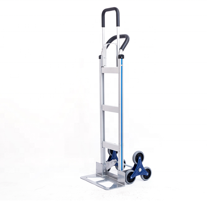 heavy duty 6 wheels Stair Climbing Cart ph250 Portable aluminum Hand Truck Three-Wheel Stair Climber trolley