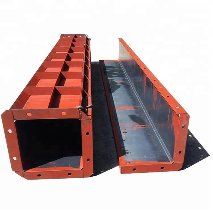 Customized U Ditch Adjustable Square Steel Mold formwork Mould For Concrete Column Construction Building