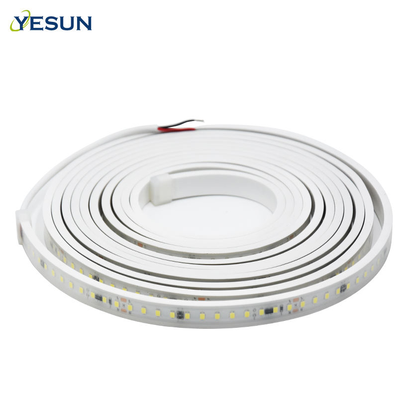 SMD 2835 Double Warna Silikon Tabung Tegangan Tinggi 110 V Flexible LED Strip 220 V