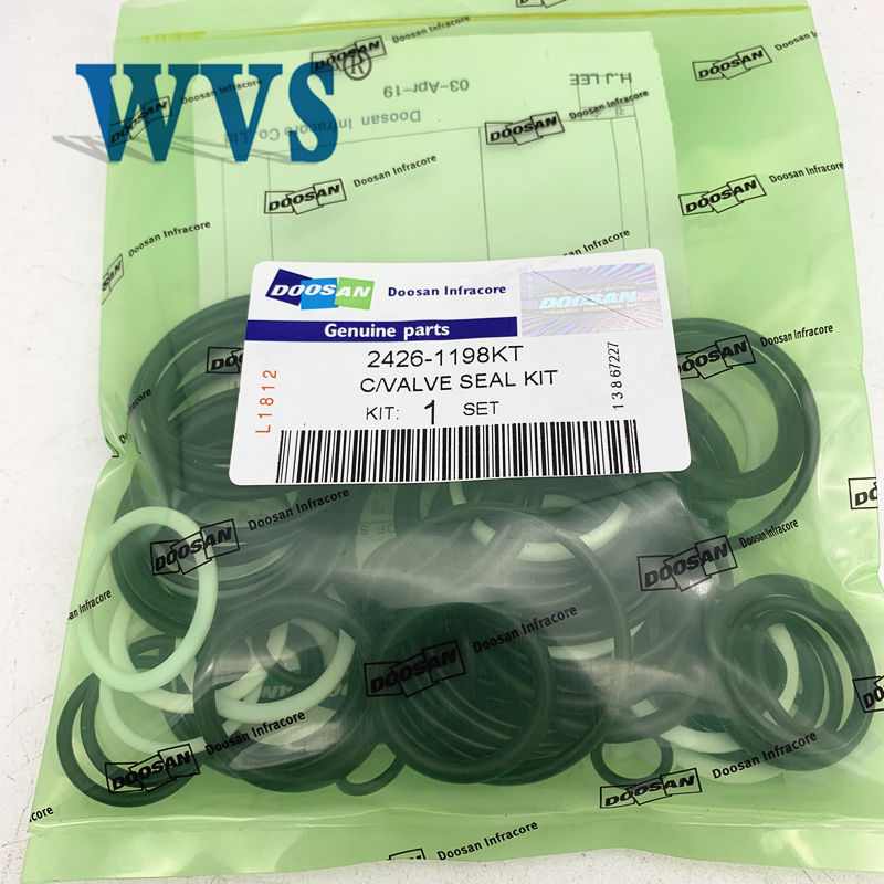 For Energy Mining Excavator Spare Parts Doosan Excavator Spare Part 2426-1198KT Control Valve Seal Kit