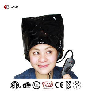 Good quality PVC fast heating Hair steamer cap for home use Black heating cap portable hair steamer wholesale
