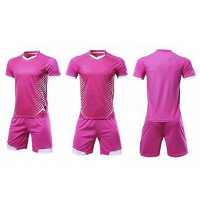 Hot Selling Pink Uniform Football Kits Soccer Jersey Manufacturer
