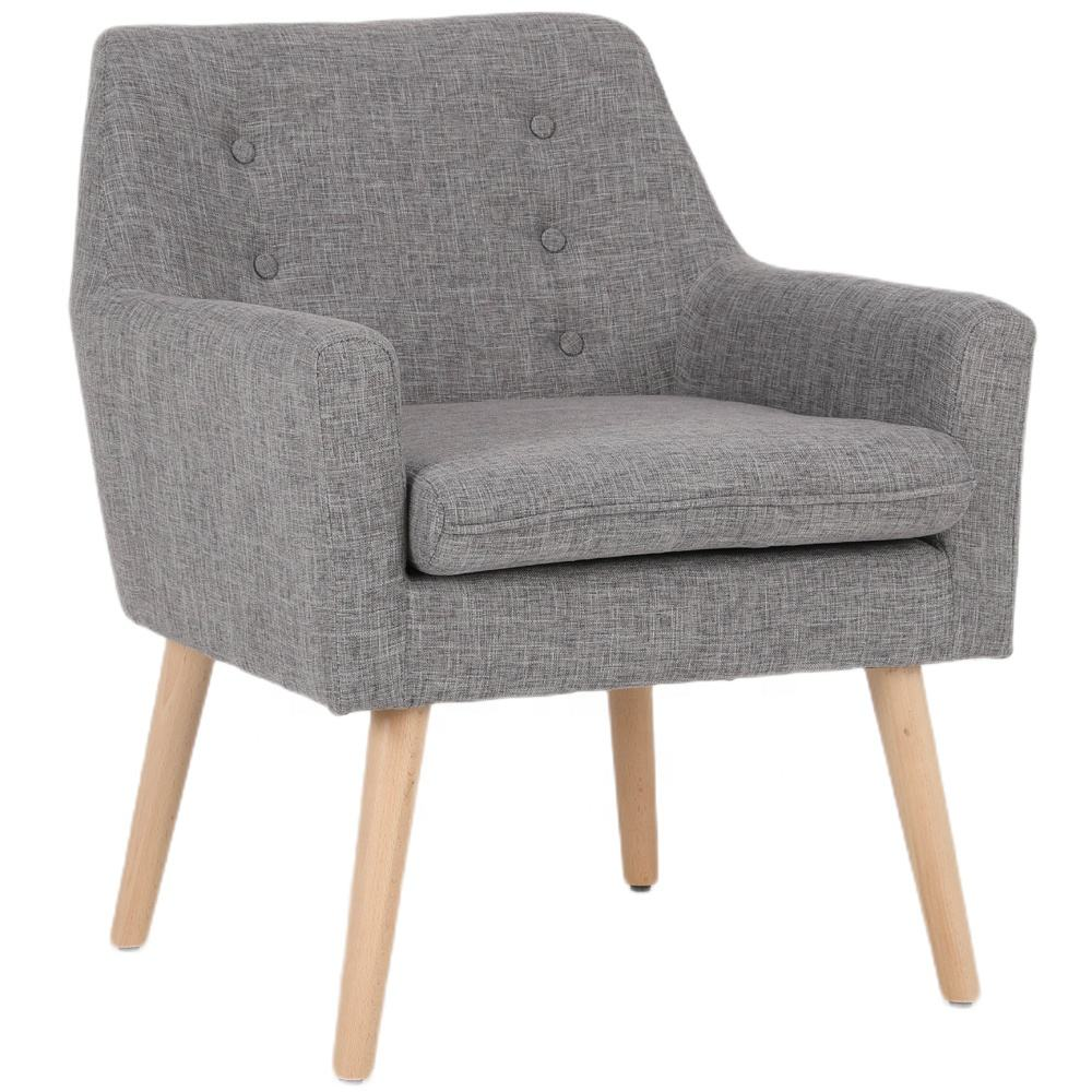 modern living room furniture wooden fabric armchair