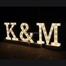 High quality led marquee bulb letter M & K
