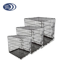 "19"" 24"" 30"" 36"" 42"" 48"" Dog Cage Dog Crate Dog Kennel Pet Cat Metal Folding Portable Puppy Carrier Tray Home"