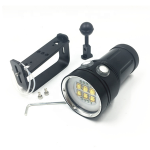 LED 6*9090 led XPE lights underwater photography video scuba diving flashlight torch