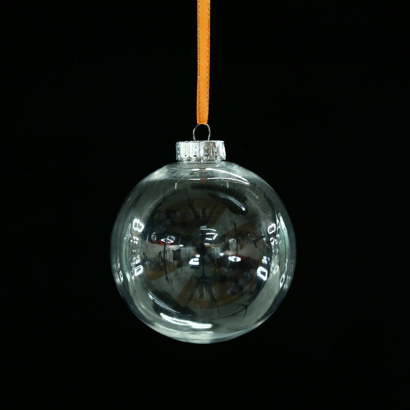 Wholesale Yiwu Transparent Christmas Ornaments Clear Plastic Flat Christmas Ball