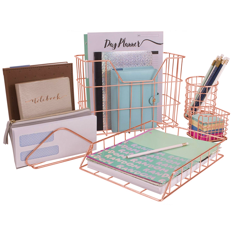 table organizer letter tray organizer desk organizer set for home, office,pen holder