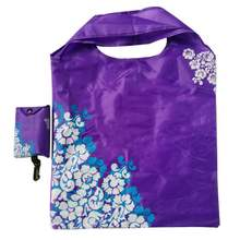 Promotional Environmental Flower Printing RPET Foldable Hand Shopping Bag