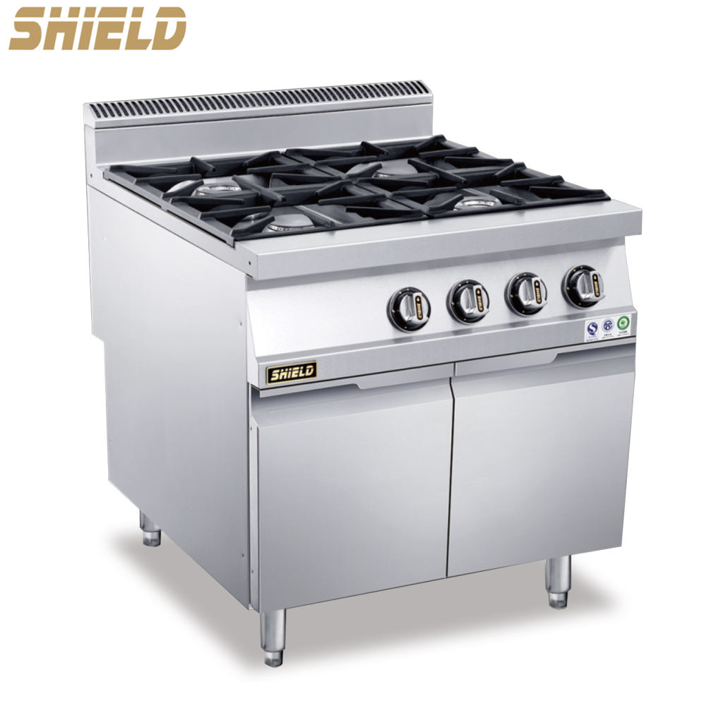 Quality Guarantee Professional 4 Burner Gas Food Cooker Machinery with Oven Series Stove