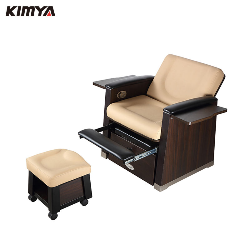 Wholesales pedicure spa deluxe wooden footbath foot massage chair sofa