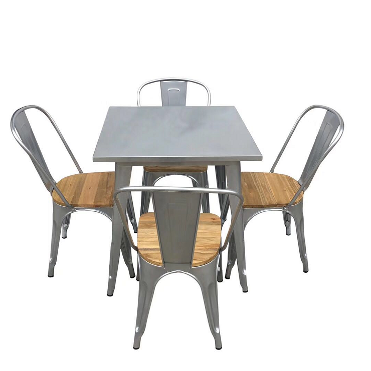 Best selling colorful modern cheap metal industrial dining coffee tables and chairs for restaurant