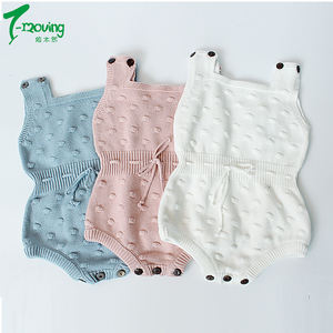Warm Newborn Baby Boy Girl Clothes Sleeveless Knit Romper Jumpsuit Vest Overall Knitted Outfits Baby Clothes