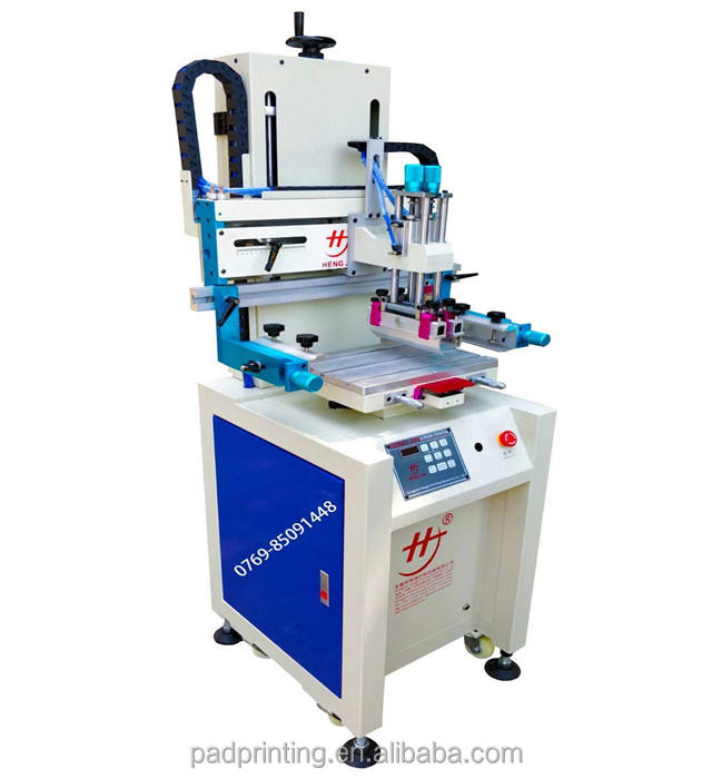 HS-260PI penumatic silk screen printer flat vacuum screen printing machine for cd, cards, book and clothes