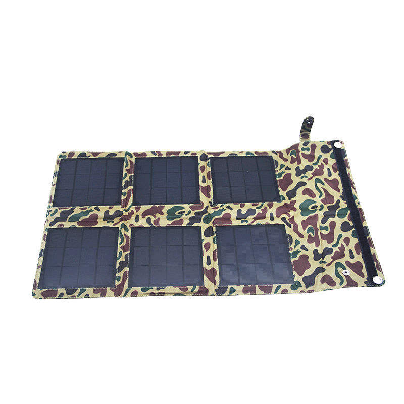Factory 18W 18V foldable external solar battery charger for camping