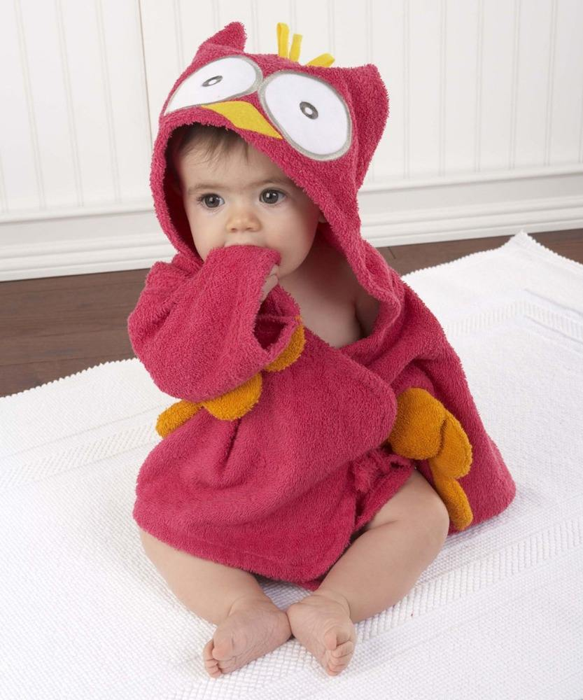 new style 100% cotton hot sale cheap baby hooded bath towel bathrobe for kids