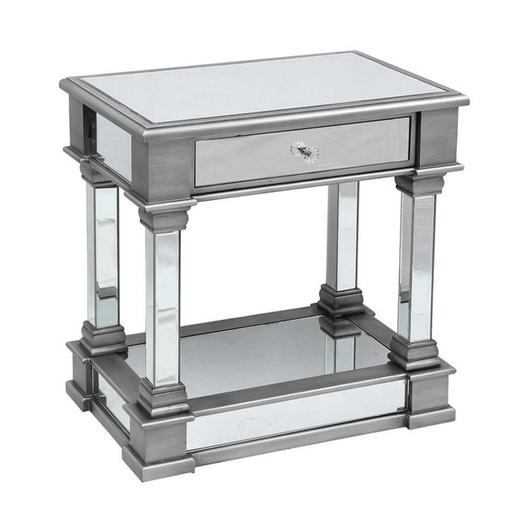 Modern Fancy Mirrored Coffee Side End table for living room bedroom